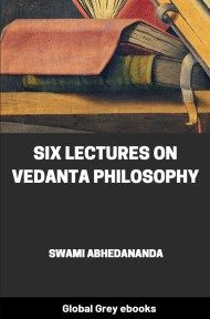 cover page for the Global Grey edition of Six Lectures on Vedanta Philosophy by Swami Abhedananda