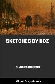 cover page for the Global Grey edition of Sketches by Boz by Charles Dickens