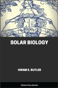 cover page for the Global Grey edition of Solar Biology by Hiram Butler