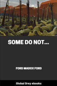 cover page for the Global Grey edition of Some Do Not... by Ford Madox Ford