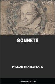 cover page for the Global Grey edition of Sonnets by William Shakespeare