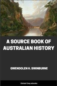 cover page for the Global Grey edition of A Source Book of Australian History by Gwendolen H. Swinburne
