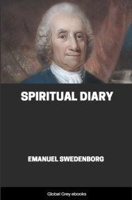 cover page for the Global Grey edition of Spiritual Diary by Emanuel Swedenborg