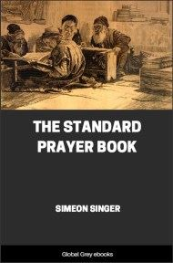 cover page for the Global Grey edition of The Standard Prayer Book by Simeon Singer