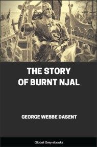 cover page for the Global Grey edition of The Story of Burnt Njal by George Webbe Dasent