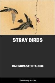 cover page for the Global Grey edition of Stray Birds by Rabindranath Tagore