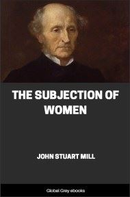 cover page for the Global Grey edition of The Subjection of Women by John Stuart Mill