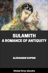 cover page for the Global Grey edition of Sulamith: A Romance of Antiquity by Aleksandr Kuprin