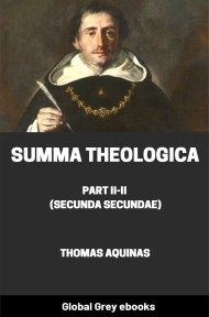 cover page for the Global Grey edition of Summa Theologica, Part II-II (Secunda Secundae) by Thomas Aquinas