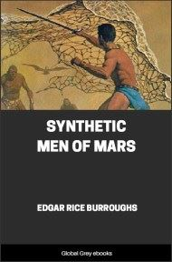cover page for the Global Grey edition of Synthetic Men of Mars by Edgar Rice Burroughs