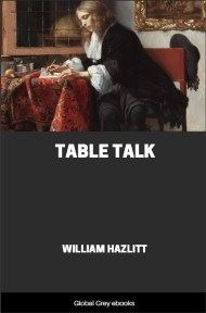 cover page for the Global Grey edition of Table Talk by William Hazlitt