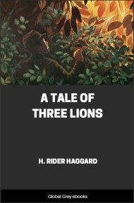 cover page for the Global Grey edition of A Tale of Three Lions by H. Rider Haggard