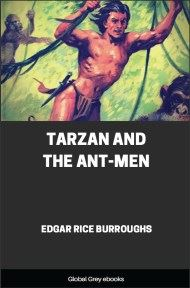 cover page for the Global Grey edition of Tarzan and the Ant-Men by Edgar Rice Burroughs
