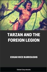 cover page for the Global Grey edition of Tarzan and the Foreign Legion by Edgar Rice Burroughs