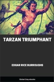 cover page for the Global Grey edition of Tarzan Triumphant by Edgar Rice Burroughs