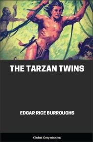 cover page for the Global Grey edition of The Tarzan Twins by Edgar Rice Burroughs