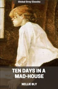 cover page for the Global Grey edition of Ten Days in a Mad-House by Nellie Bly