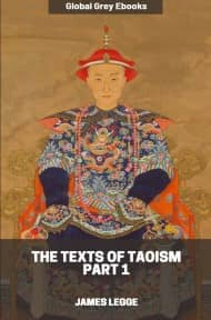 cover page for the Global Grey edition of The Texts of Taoism, Part 1 by James Legge