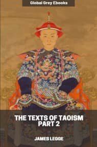 cover page for the Global Grey edition of The Texts of Taoism, Part 2 by James Legge