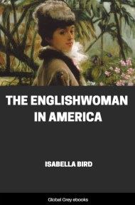 cover page for the Global Grey edition of The Englishwoman in America by Isabella Bird