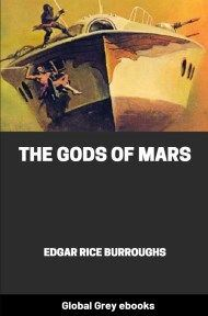 cover page for the Global Grey edition of The Gods of Mars by Edgar Rice Burroughs