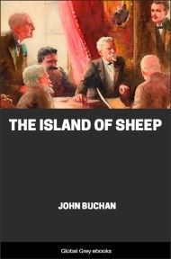 cover page for the Global Grey edition of The Island of Sheep by John Buchan