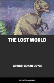 cover page for the Global Grey edition of The Lost World by Arthur Conan Doyle