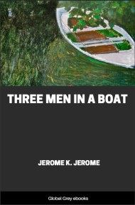 cover page for the Global Grey edition of Three Men in a Boat By Jerome K. Jerome