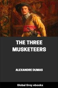 cover page for the Global Grey edition of The Three Musketeers by Alexandre Dumas