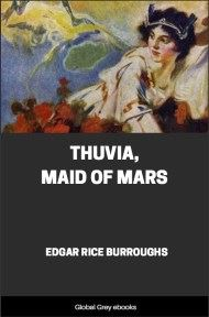 cover page for the Global Grey edition of Thuvia, Maid of Mars by Edgar Rice Burroughs