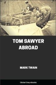 cover page for the Global Grey edition of Tom Sawyer Abroad by Mark Twain