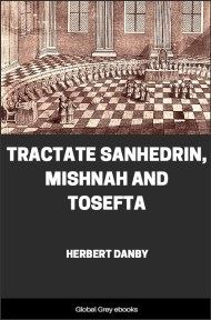 cover page for the Global Grey edition of Tractate Sanhedrin, Mishnah and Tosefta by Herbert Danby