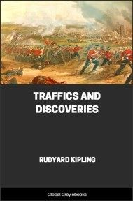 cover page for the Global Grey edition of Traffics and Discoveries by Rudyard Kipling