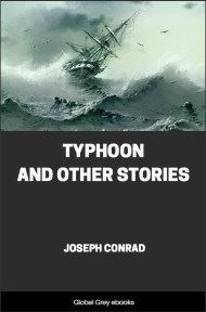 cover page for the Global Grey edition of Typhoon and Other Stories by Joseph Conrad