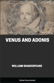cover page for the Global Grey edition of Venus and Adonis by William Shakespeare