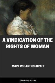 cover page for the Global Grey edition of A Vindication of the Rights of Woman by Mary Wollstonecraft