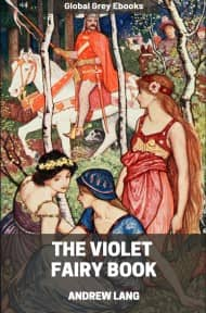 cover page for the Global Grey edition of The Violet Fairy Book by Andrew Lang