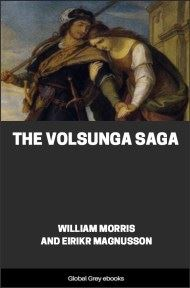 cover page for the Global Grey edition of The Volsunga Saga by William Morris and Eirikr Magnusson