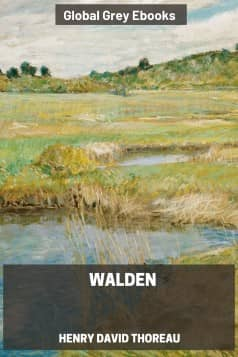 cover page for the Global Grey edition of Walden by Henry David Thoreau