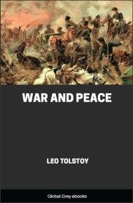 cover page for the Global Grey edition of War and Peace by Leo Tolstoy