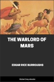 cover page for the Global Grey edition of The Warlord of Mars by Edgar Rice Burroughs