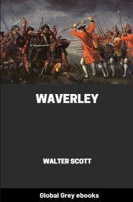 cover page for the Global Grey edition of Waverley By Walter Scott