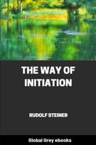 The Way of Initiation By Rudolf Steiner