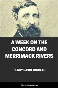 cover page for the Global Grey edition of A Week on the Concord and Merrimack Rivers by Henry David Thoreau