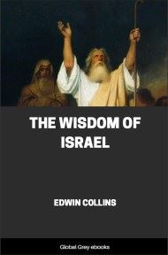cover page for the Global Grey edition of The Wisdom of Israel by Edwin Collins