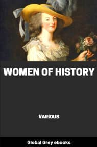 cover page for the Global Grey edition of Women of History by Various
