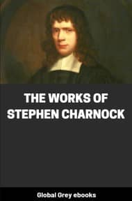 cover page for the Global Grey edition of The Works of Stephen Charnock by Stephen Charnock