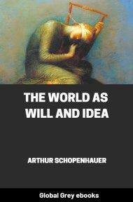cover page for the Global Grey edition of The World as Will and Idea by Arthur Schopenhauer