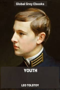 cover page for the Global Grey edition of Youth by Leo Tolstoy
