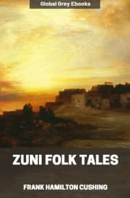 cover page for the Global Grey edition of Zuni Folk Tales by Frank Hamilton Cushing